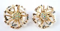 Vintage Sarah Coventry ' Allusion ' Clip On Earrings.